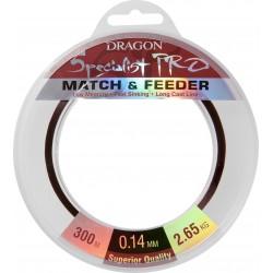 Dragon, żyłka Specialist pro Maxima Match&Feeder kolor ciemnobrązowy 300m różne średnice