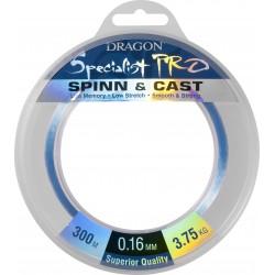 Dragon, żyłka Specialist Pro Maxima Spinn&Cast kolor jasnoniebieski 300m różne średnice