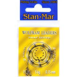 Stanmar Dlux przypon wolframowy uzbrojony 15 cm, różne wytrzymałości