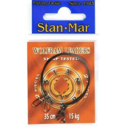 Stanmar Dlux przypon wolframowy uzbrojony 35 cm, różne wytrzymałości