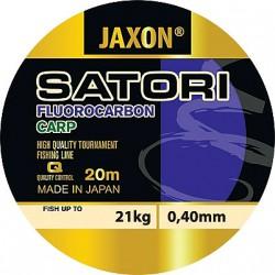 Jaxon, żyłka SATORI Fluorocarbon Carp clear 20m, op. 6x1 szt.