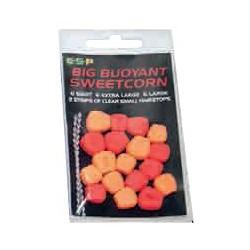 ESP, Sztuczna przynęta - Sweetcorn, Fluo pomarańczowa i czerwona, NOWOŚĆ 2013