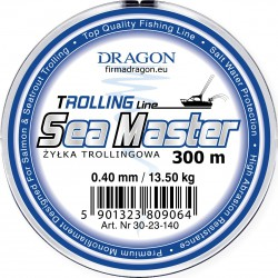 DRAGON, Żyłka Trollingowa SEA MASTER 300m Żółta Fluo