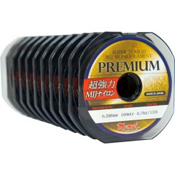 Momoi, żyłka Premium kolor szaroniebieski 100m różne średnice