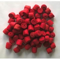 PowerFish pellet dla ryb, czerwony robak, kolor czerwony, różne średnice op. 20 kg
