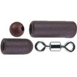 Traper łącznik gumowy z krętlikiem / 5 kpl.