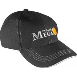 Dragon, Czapka Mega Baits, Czarna z białymi szwami